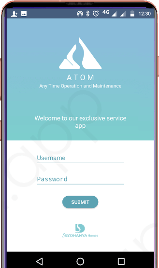 Sree Dhanya Atom - Customer Service Application